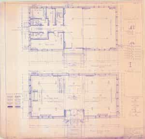 1917, Feb. 6, Main and basement floor plans